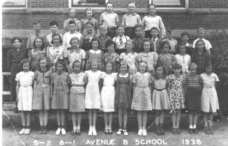 Mom at School in 1938