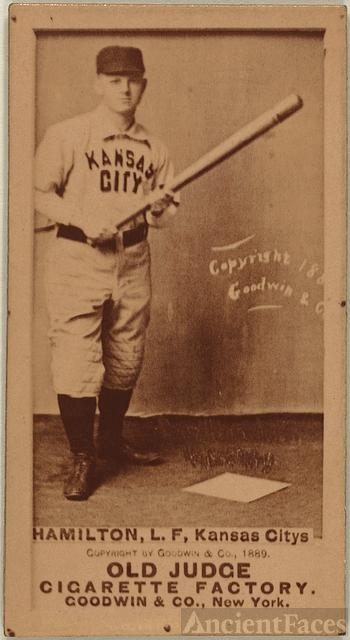 [Billy Hamilton, Kansas City Cowboys, baseball card...