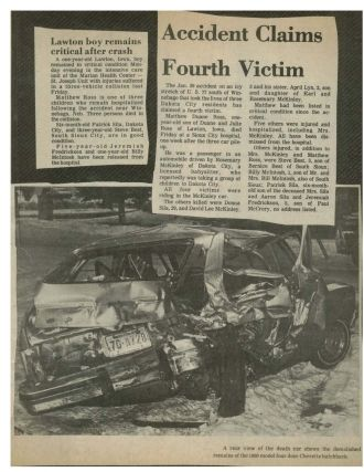 Donna Sue Crull Crash Article