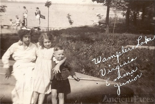Virginia, Emma, & 'Junior' (William) Busch, MI