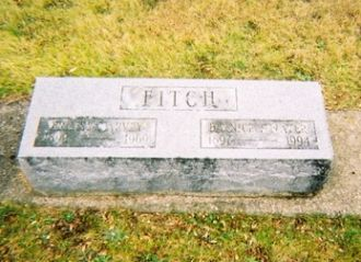 Ernest Harvey Fitch & Bernice Strayer gravestone