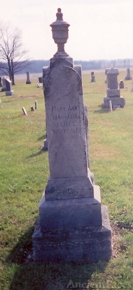 James Wolfcale & Mary Ann Sowle gravestone