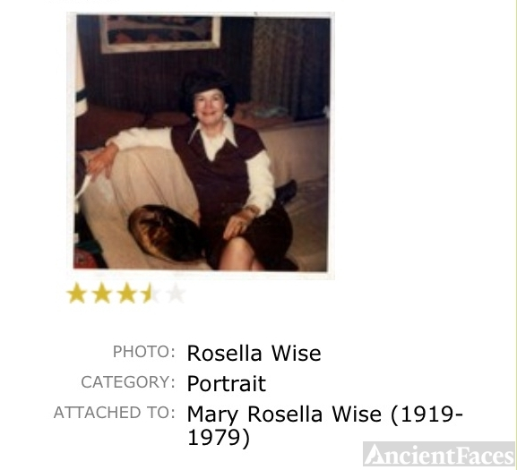 Mary Rosella Wise 1919 - 1979