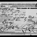 Harriet Seymour death certificate