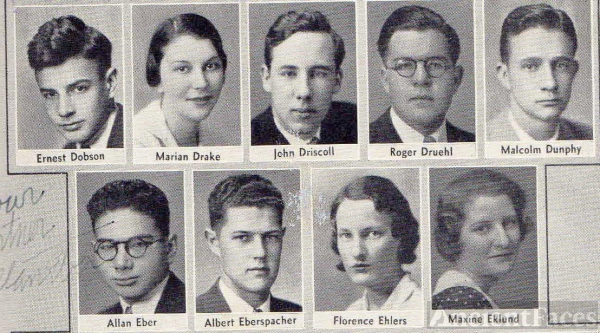 Ernest Dobson 1933 CA Lowell High School