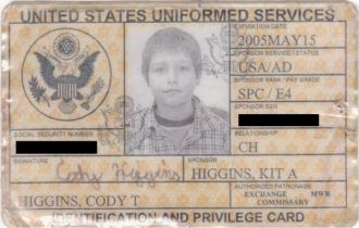 military ID (dependent)