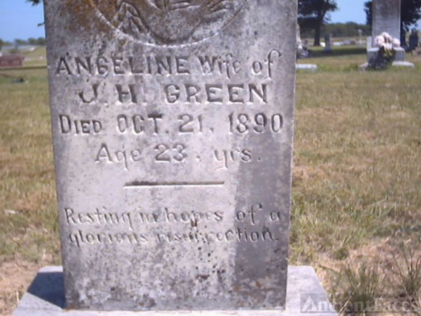 Angeline Green Headstone