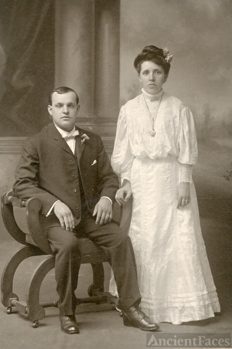 William Diehl & Carrie Leidich wedding 1907