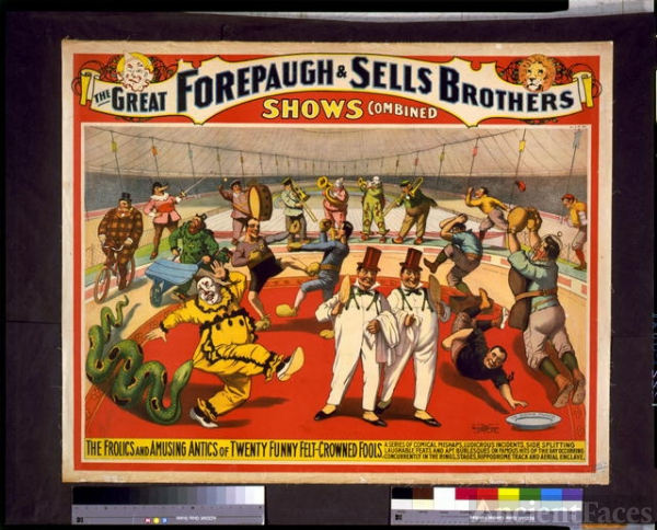The Great Forepaugh & Sells Brothers shows combined. The...