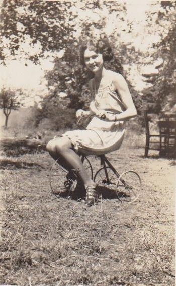 Woman on Tricycle