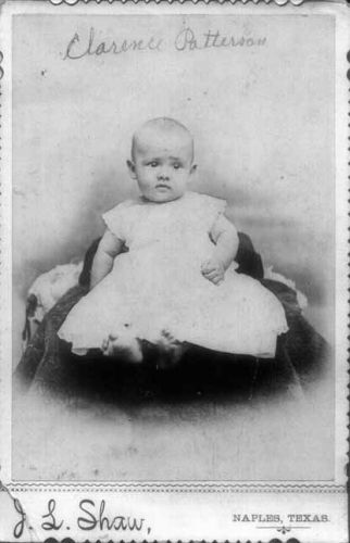 Clarence Patterson Infant Studio Portrait