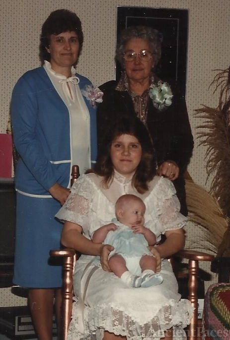 Gloria Bubar Morris with first grandaughter