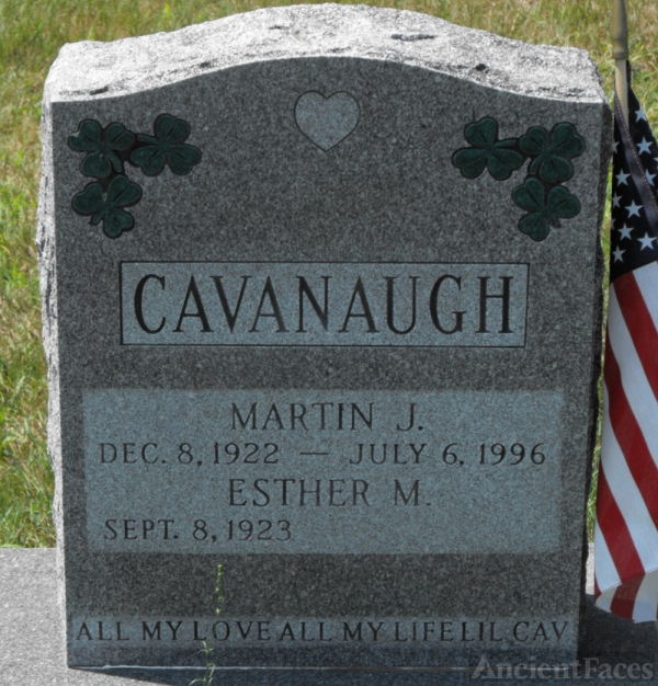 Esther M Cavanaugh gravesite
