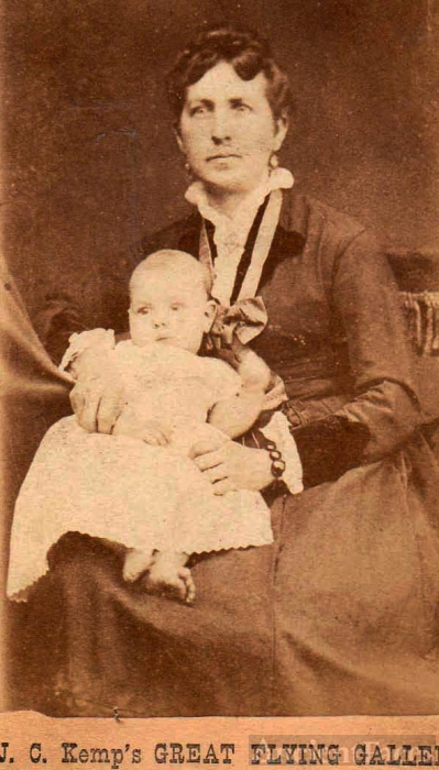 Emily Hagadorn and daughter, Mary E. Johnson - California Pioneers