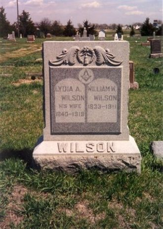 Headstones of Lydia & William