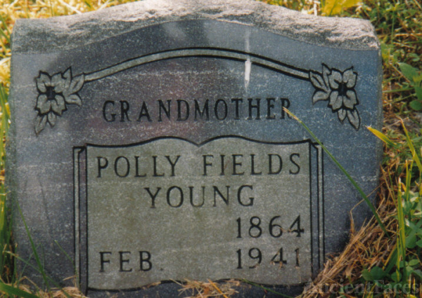 Headstone of Polly Fields Young