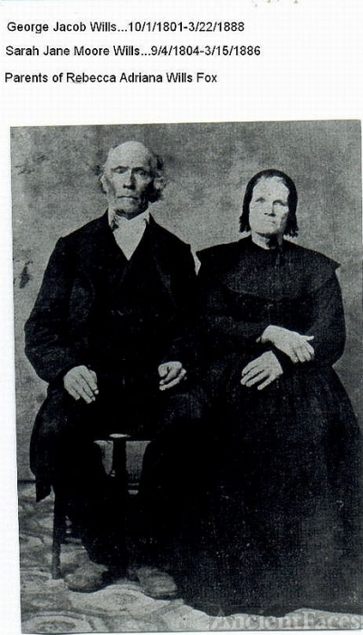 George Jacob Wills and Sarah Jane Moore
