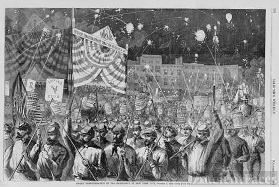 Grand demonstration of the democracy in New York City,...