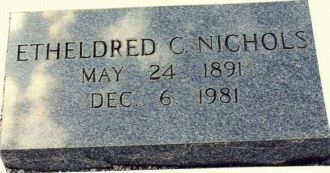 Grave of Etheldred C. Nichols