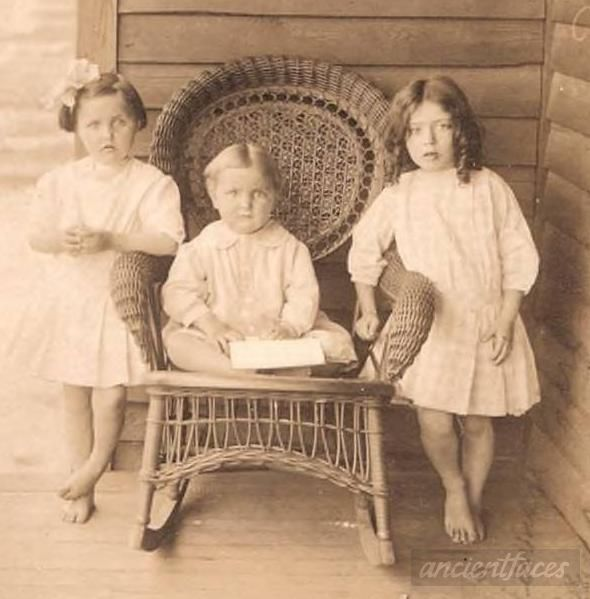 Three unknown children