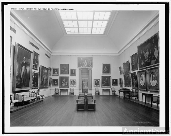 Early American Room, Museum of Fine Arts, Boston, Mass.