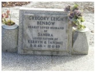 Gregory Leigh Benbow gravesite
