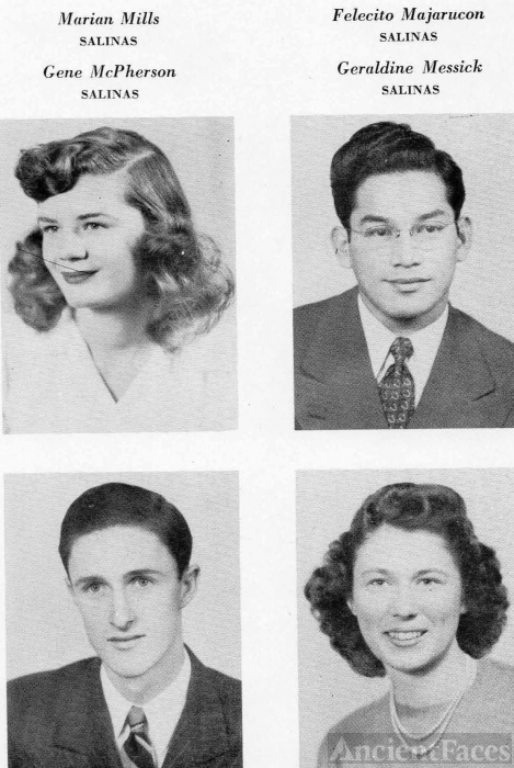 Marian Mills 1946 - Salinas Junior College