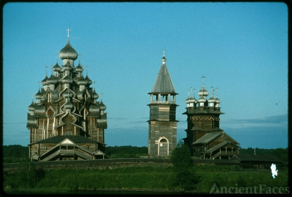 Pogost ensemble, Church of the Transfiguration (1714)...