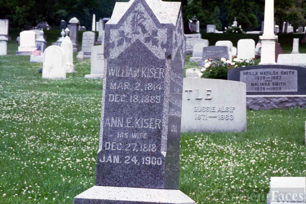 Stone of William and Ann E Kiser