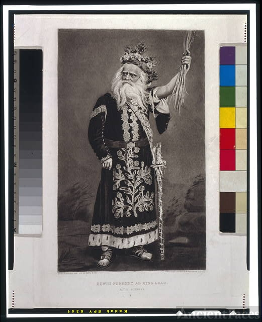 Edwin Forrest as King Lear--Act IV--Scene VI / gravure...