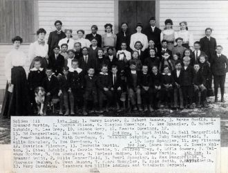 Golden Hill School ca 1912
