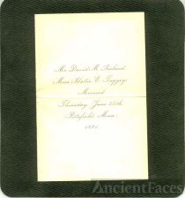 Wedding Invitation of David Ireland and Harriet Tuggey