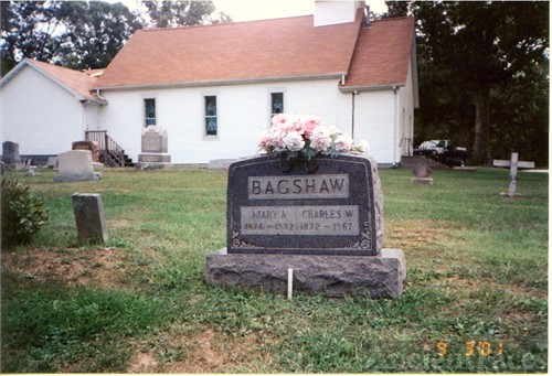 Gravesite of Charles & Mary A Bagshaw