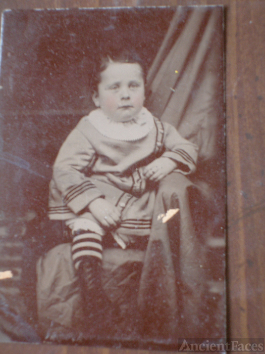 Unknown child, tintype
