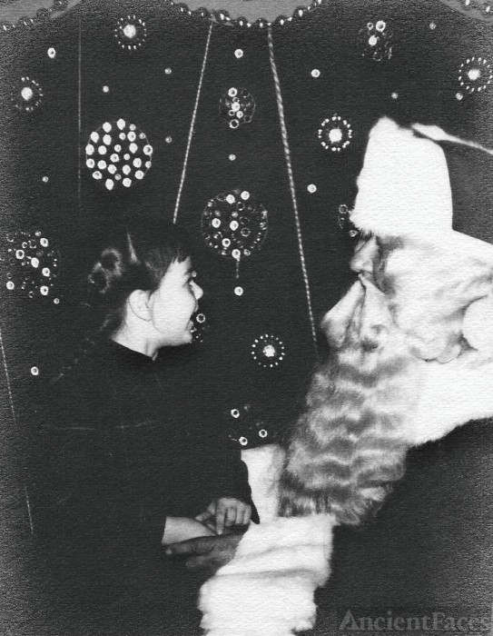 Mary Louise Yarnall & Santa, 1952 Pennsylvania
