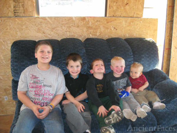 Five of my brother's grandson's