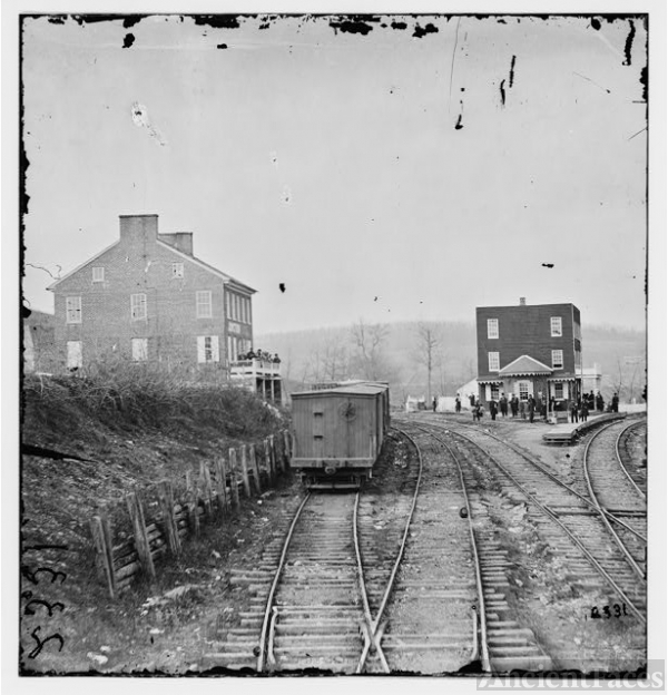 Hanover Junction, Pennsylvania. View of railroad station...
