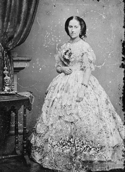 Myra Clark Gaines in Civil War Fashion