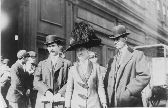 Orville, Katharine, and William Wright 1909