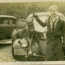 Billy with deer on car