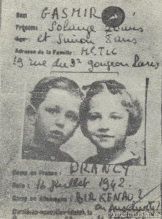 Solange and Simon Gazmir 1942