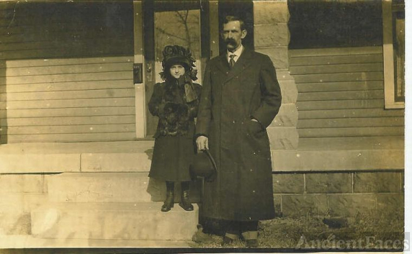 Thelma Sheeks With Her Father, Albert W. Sheeks