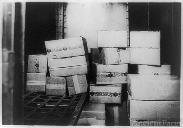 [Cases of whiskey confiscated by the U.S. Internal...