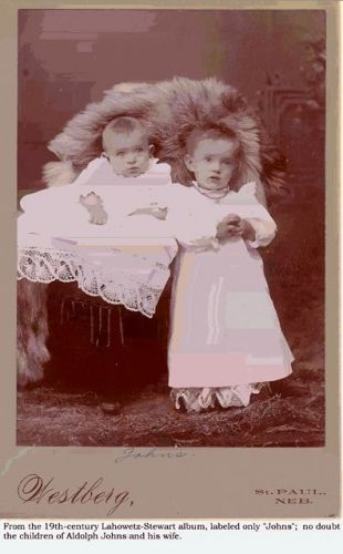 Two children of, no doubt, Adolph Johns and wife
