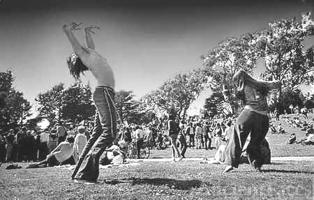 Hippies Dancing at Golden Gate Park, San Francisco