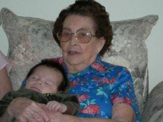 Grandmother Winifred Balius With Grandson
