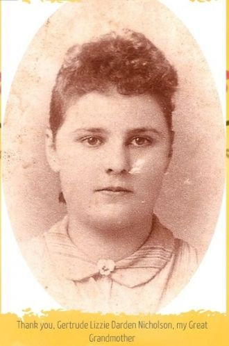 A photo of Gertrude Lizzie (Darden) Nicholson