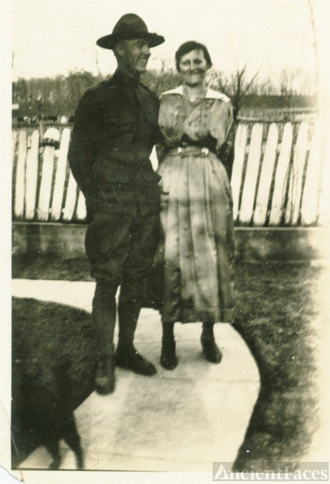 Roscoe Wolf and first wife Daisy Wolf Wolf