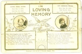 Mabel & Roy Bauer Funeral Card