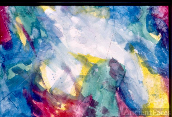 Color Abstract - Watercolr by Fred Halkett